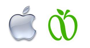 apply computer vs. greeNYC apple logo