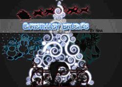 christmasBrushes
