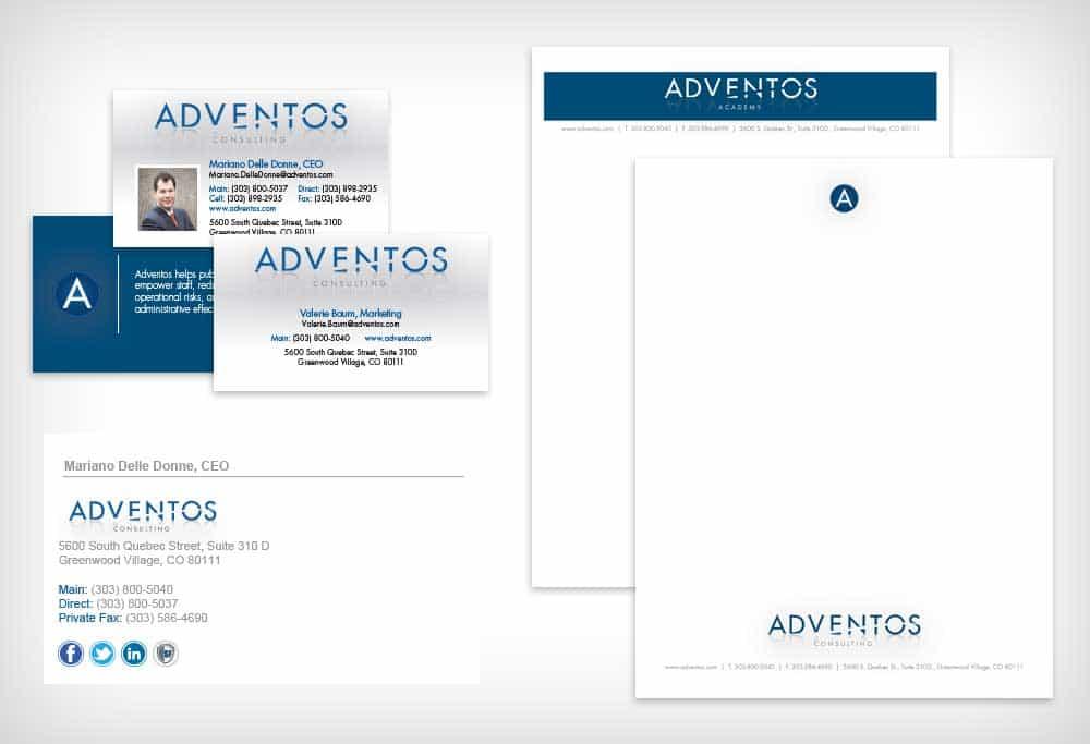 Adventos -- Small Business Stationery Design