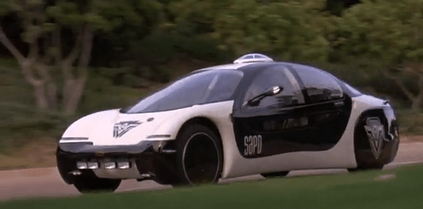 According to Sylvester Stallone's Demolition Man, this is what police cars will look like in 2032. That's less than 20 years away! We guess that, even in the future, police cars will still be black and white.