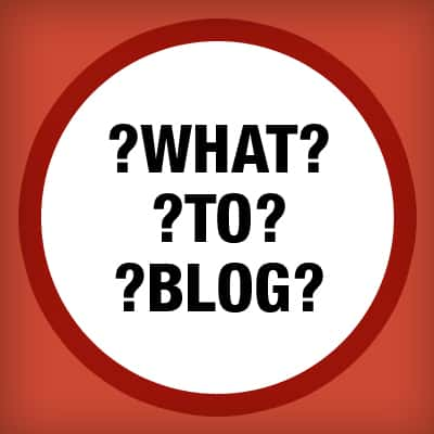 what-to-blog