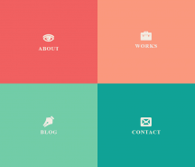This responsive layout based on an initial grid of four boxes.