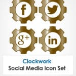 A Social Icon Set That Runs Like Clockwork