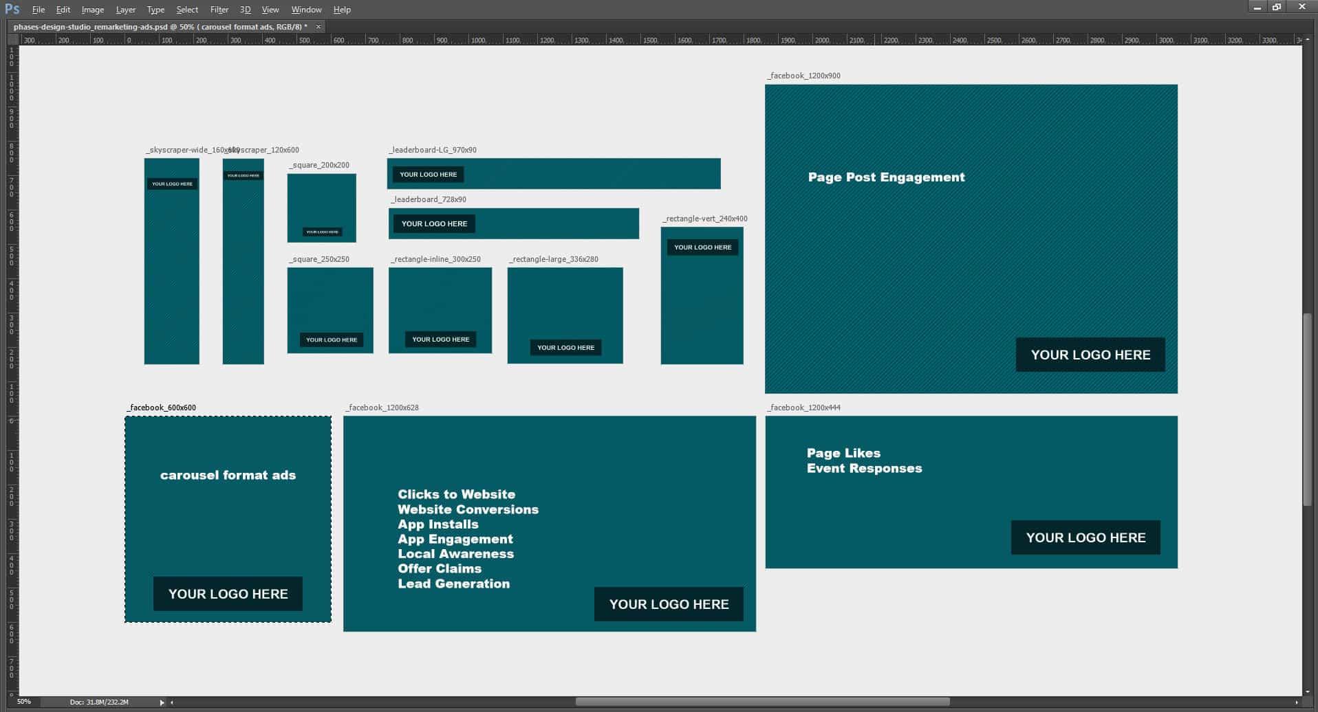 adwords and facebook ad templates phases design studio. Black Bedroom Furniture Sets. Home Design Ideas